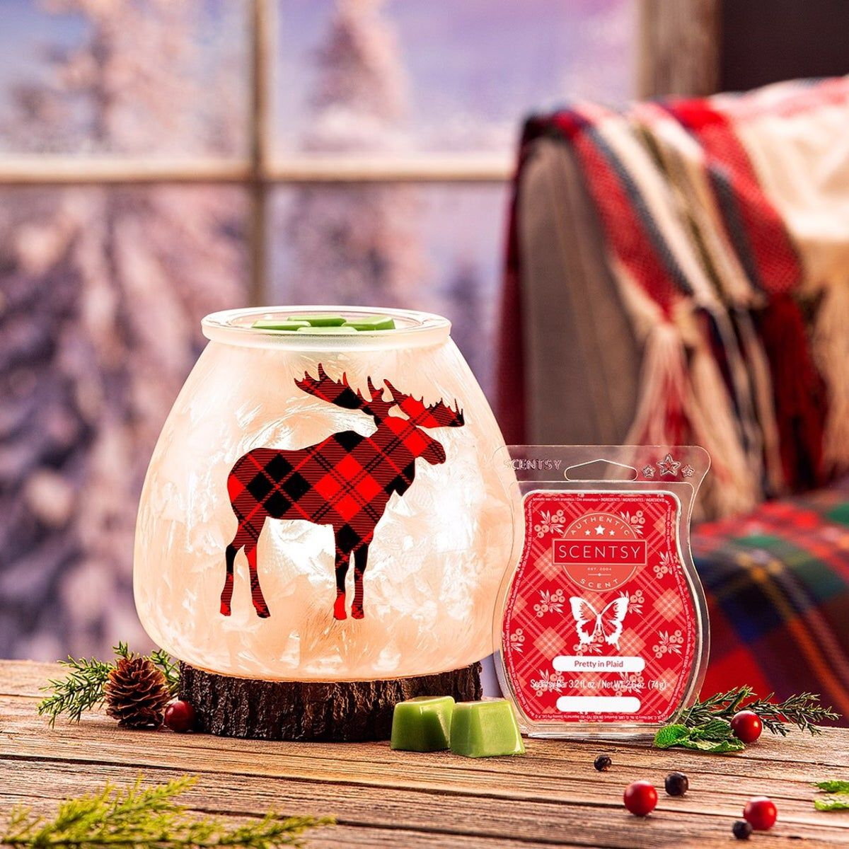 Northern Plaid Warmer Scentsy Scent Warmers Scentsy Warmer