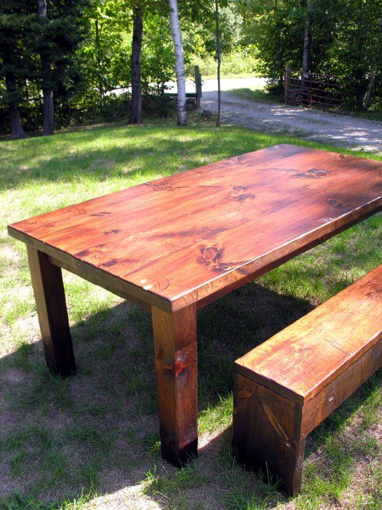 Amazing Six And A Half Foot Rustic Gathering Table And Slip Under Storage Bench In  Chocolate.