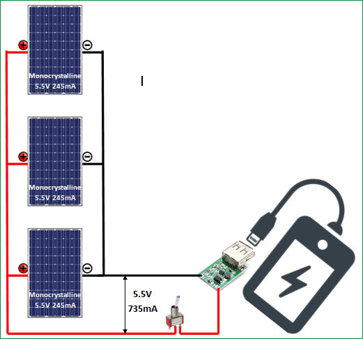 how to make a solar phone charger