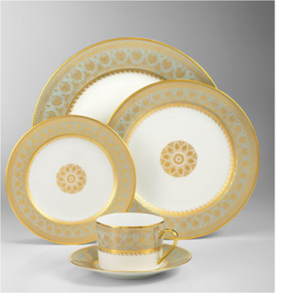 Love This Blue And Gold China Tea Time Room