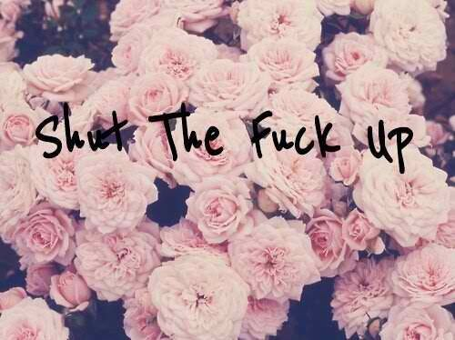 Shut the fuck up | word | Pinterest