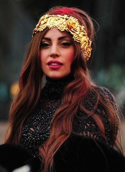 Lady Gaga Red Long Hairstyle Popular Haircuts Hairstyle Long Hair Styles Lady Gaga
