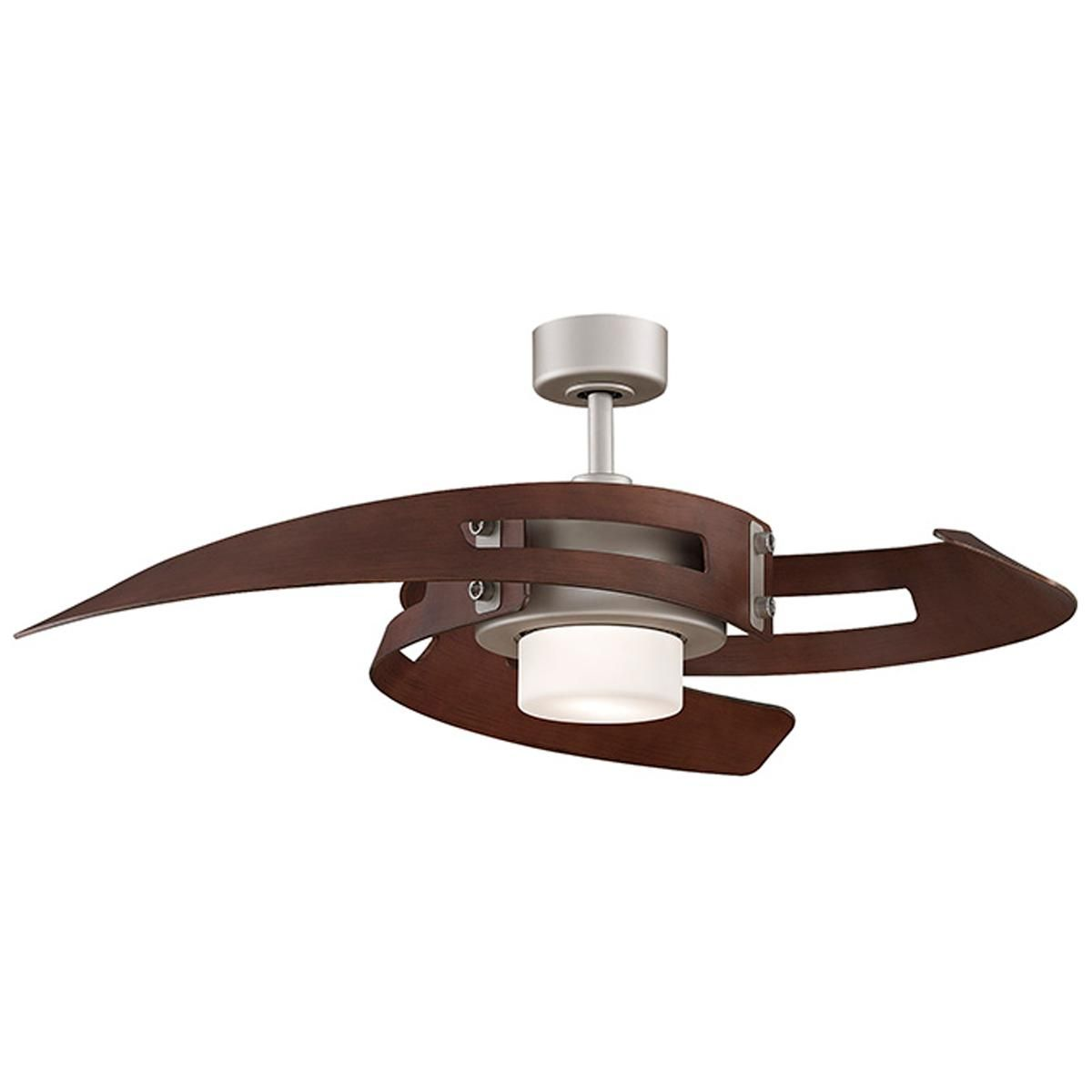 Curved Blades Ceiling Fan 2 Finishes Ceiling Fan With Light