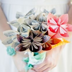 DIY Paper Bouquet . Photo by Manstrom Photography