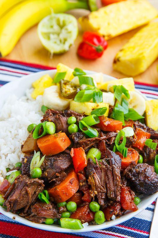 Jamaican Style Jerk Beef Stew Recipe Jamaican Recipes Food