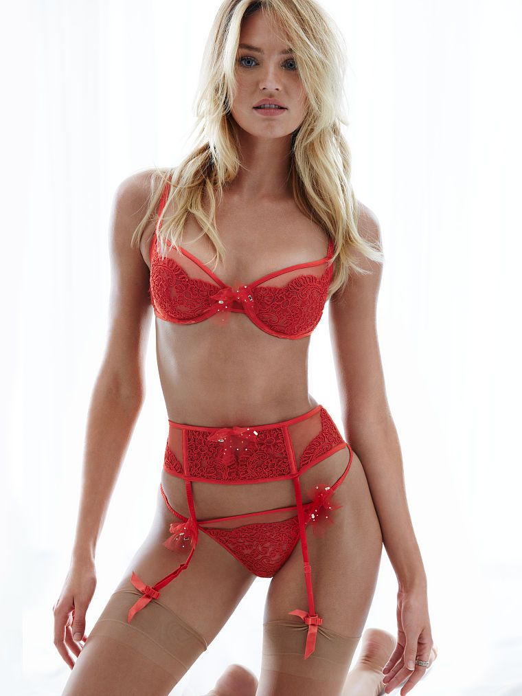 Red-hot and seriously luxe...just in time for Valentine's Day. | Victoria's Secret Designer Collection Lingerie