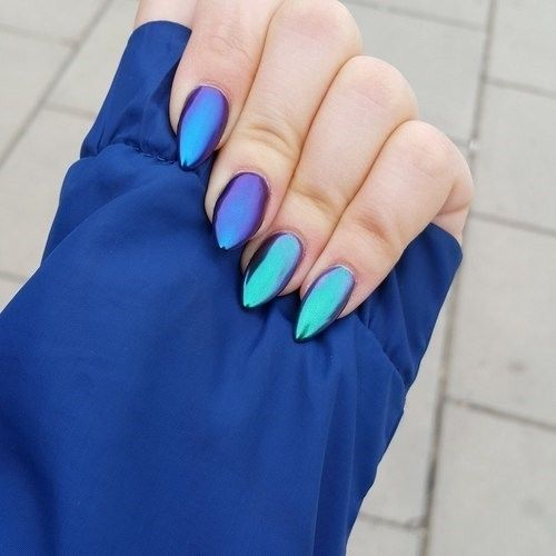 Blue Color nail arts!!! Neon Purple Nails, Claws Nails