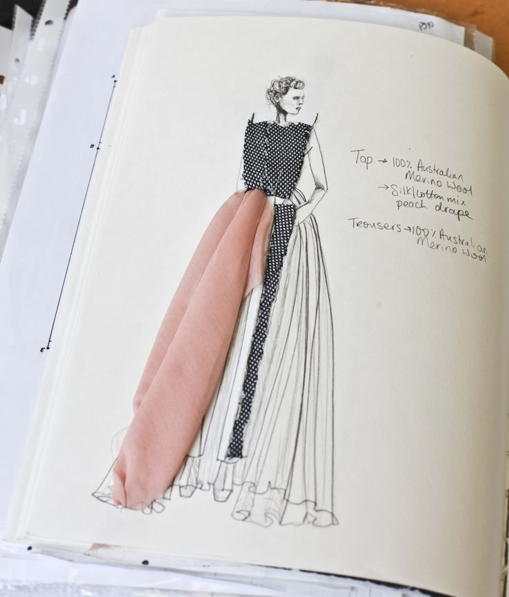Photo of Postgrad collection sketchbook! #fashiondesign
