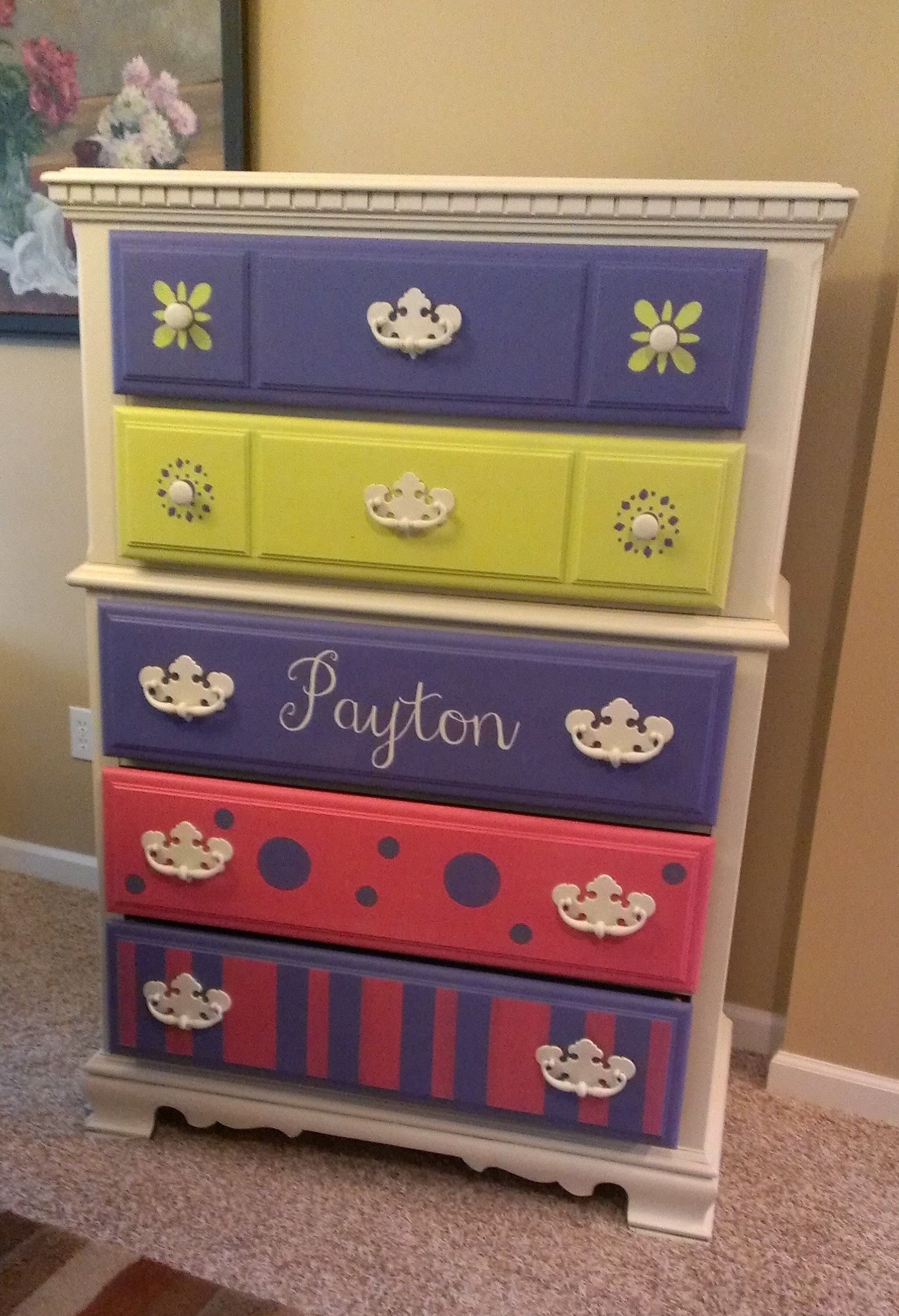 Tweens Dresser Painted With Websters Chalk Paint Powder And An Array Of Colors