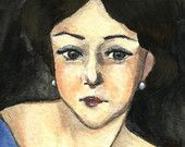 """5x7 art print 4x6 art card  """"a woman who wants to wear kisses on her neck"""" wall art home deco print (21)"""
