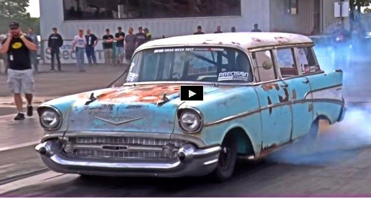 Rusty 1957 Chevy Wagon Makes 8 Seconds Look Easy Chevy
