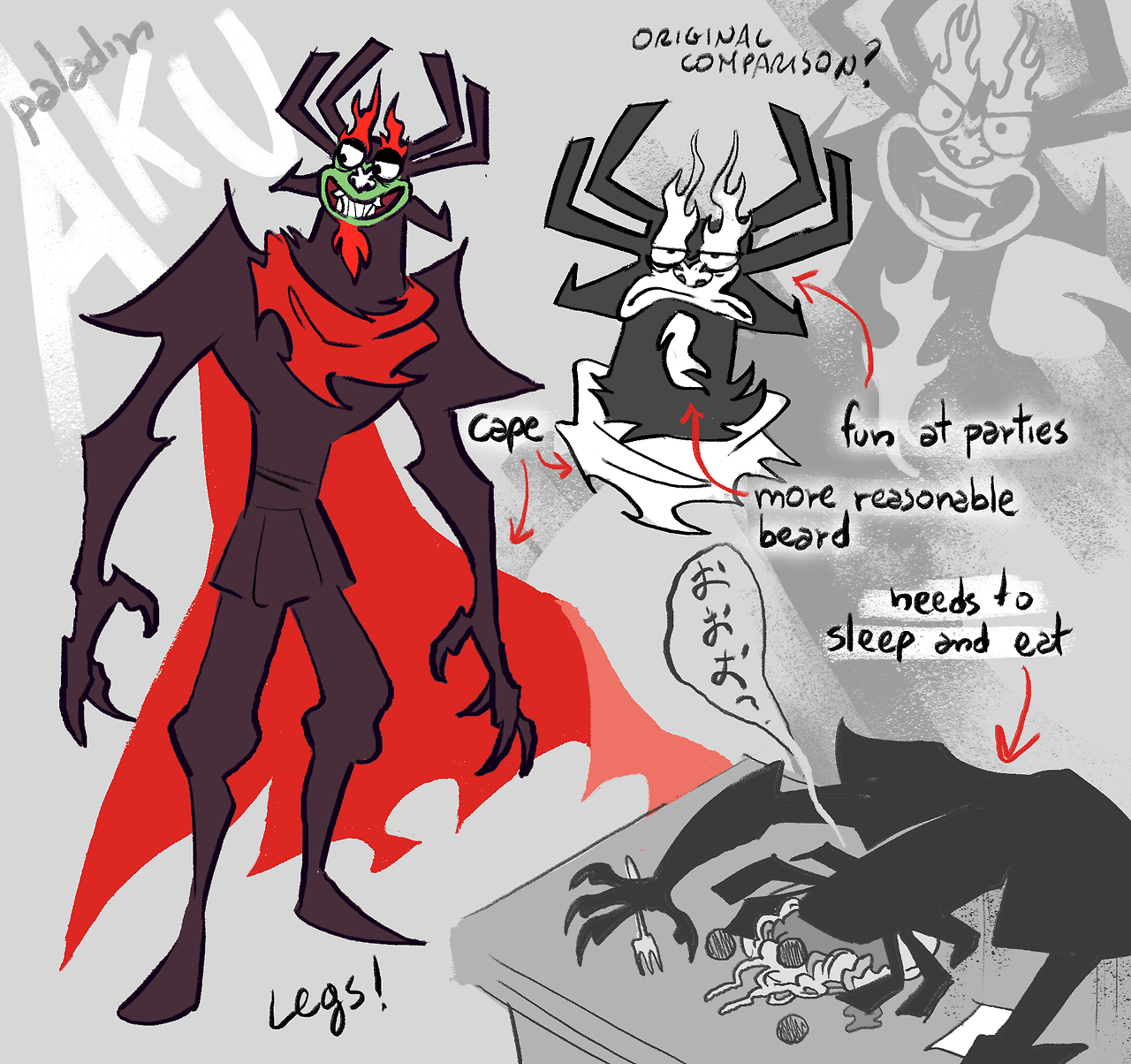 b3147f82d43299d1861da2e45a4e50df little aku reference i made for my au u can read more info on my