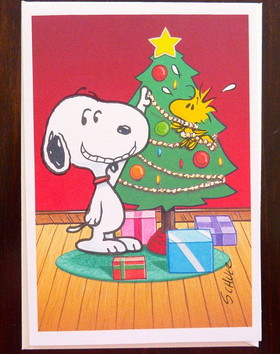 Snoopy Christmas Cards.Vintage Hallmark Peanuts Gang Christmas Card With Message In