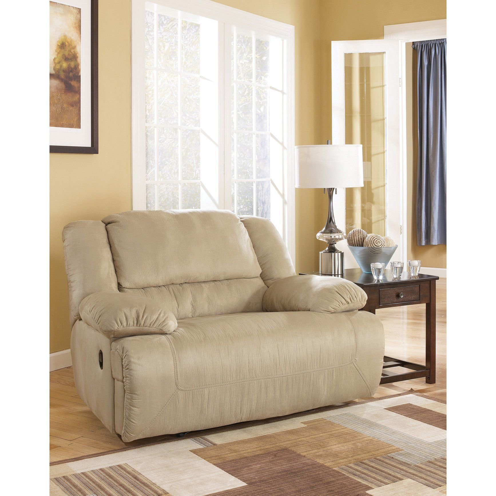 Charming Signature Design By Ashley Hopkins Zero Wall Recliner With Wide Seat Box In  Mocha   Customer