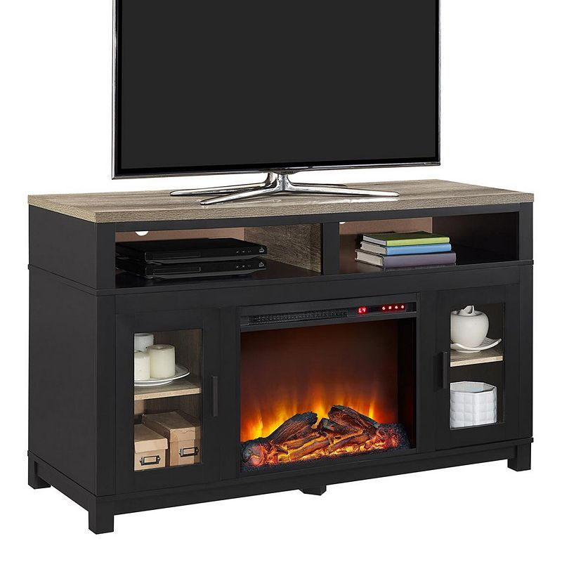 ameriwood home carver electric fireplace tv stand on Ameriwood Carver Electric Fireplace Tv Stand In 2021 Fireplace Tv Stand Electric Fireplace Tv Stand Fireplace Tv