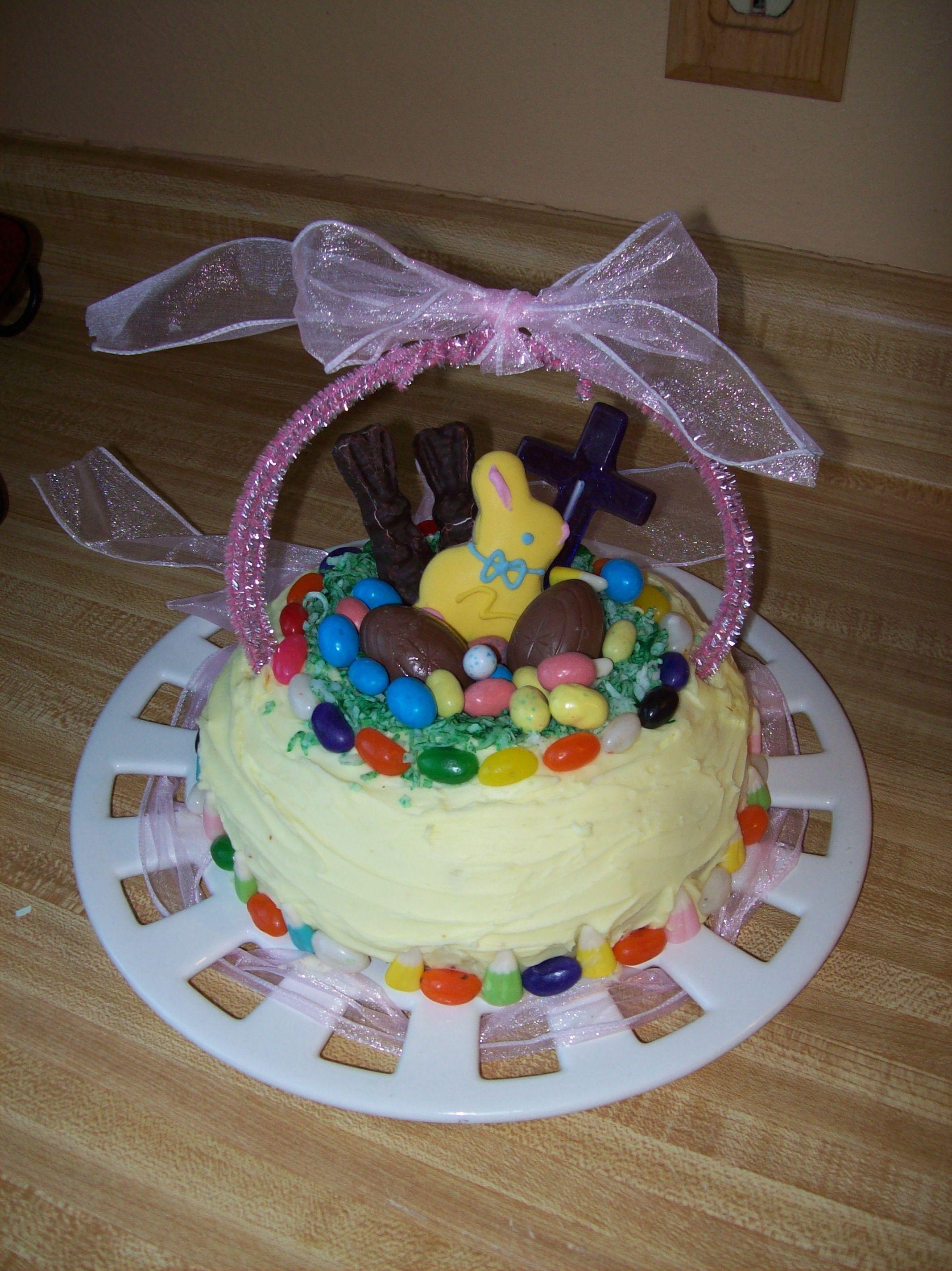 Easter basket cake easter basket cake cake easter baskets