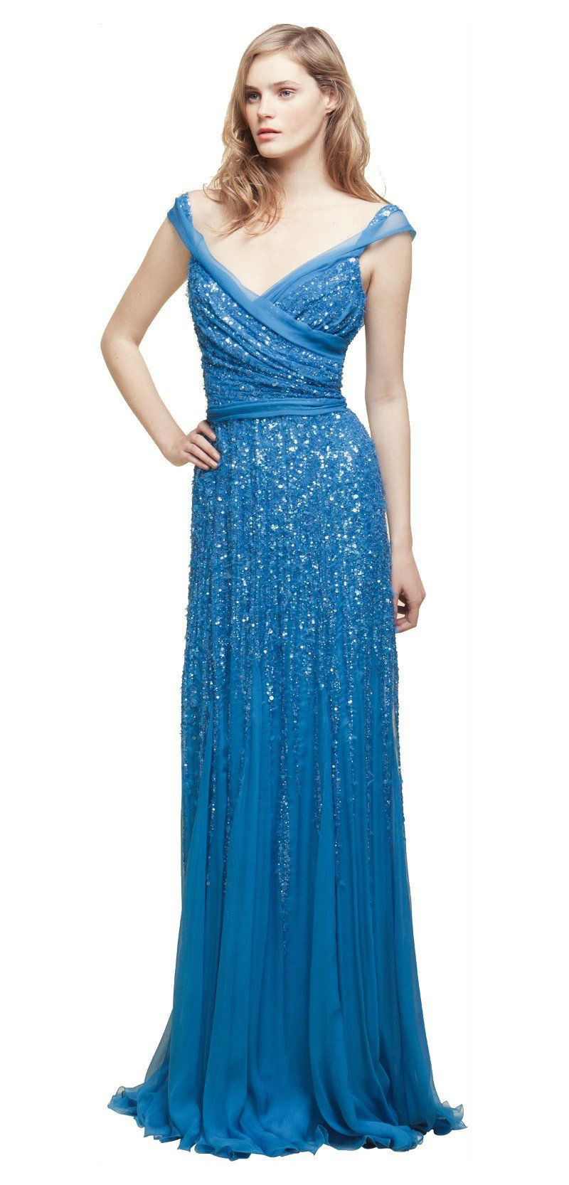 Purple dresses to wear to a wedding  Blue Shimmer  Beautiful Dresses  Pinterest  Blue gown Midnight