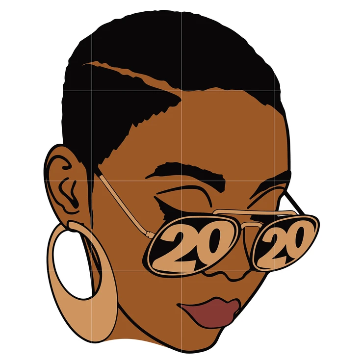 Download Black Woman with glasses Svg, Afro Woman Svg, African ...