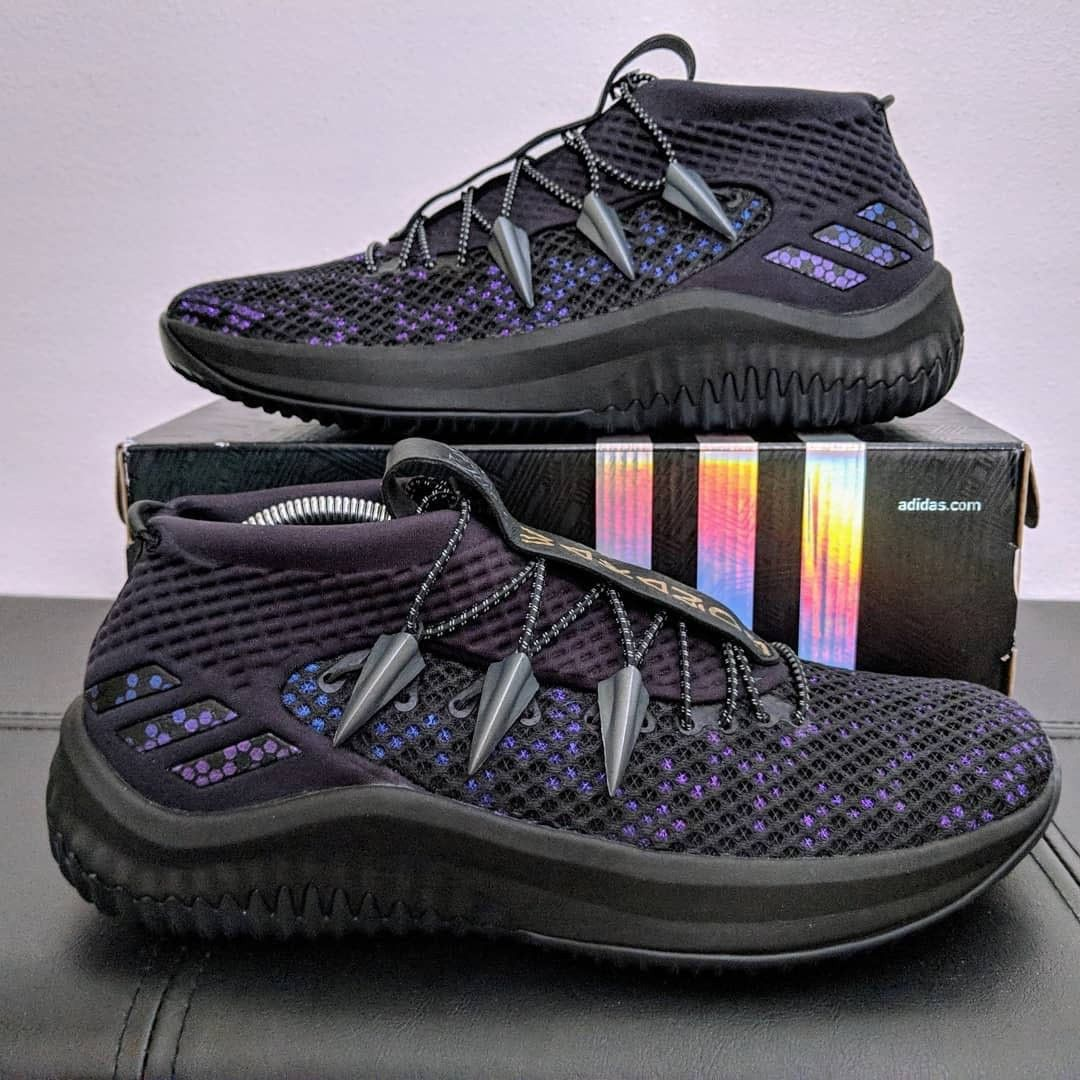 This Wakanda Forever Dame 4 Feature A Vibranium Upper Sneakers Men Fashion Adidas Dame Sneakers Men