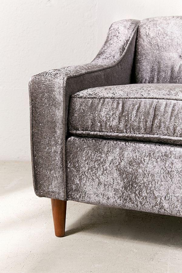 Milly Crushed Velvet Sofa | Crushed velvet sofa, Velvet ...