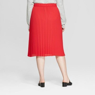 bce45757a Women's Plus Size Pleated Midi Skirt - A New Day? Vital Voices - Red X # Pleated, #Midi, #Women