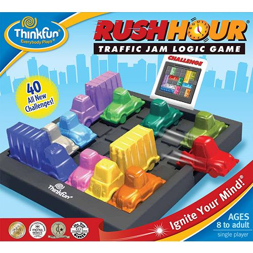 Rush Hour Traffic Jam Logic Puzzle Think fun Board Challenge Game Kids Toy Gift#