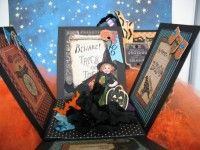 Exploding Halloween box - inside. Steampunk papers