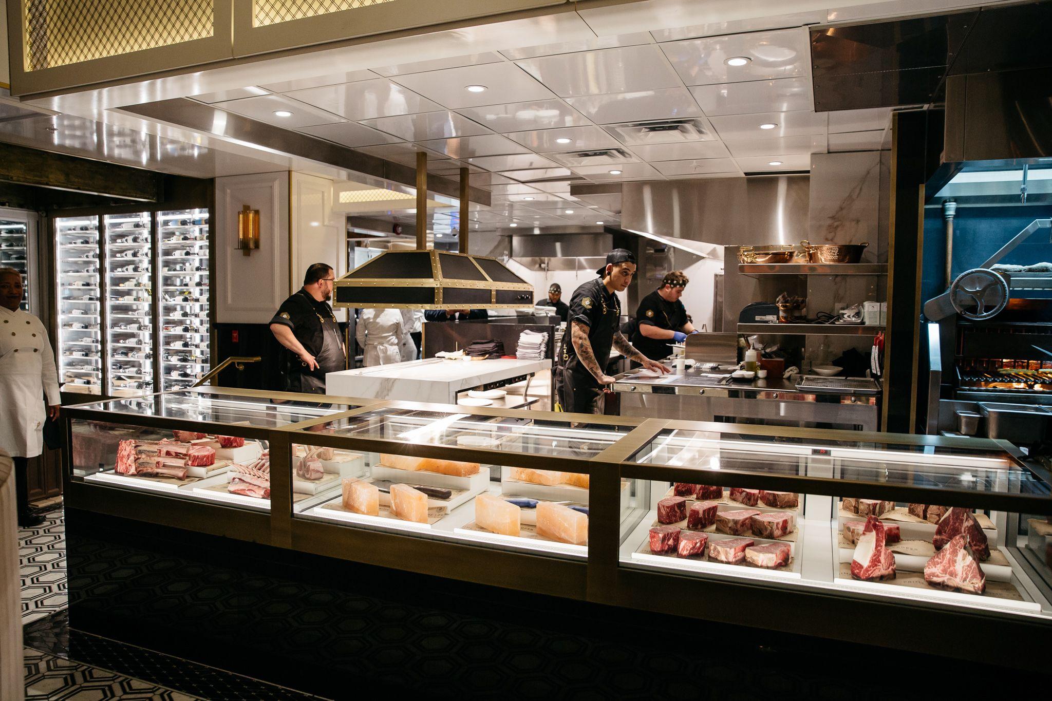 Inside Prime Proper Detroit S New Steak Fortress Eater Detroitclockmenumore Arrownoyes Black White And Br Abound