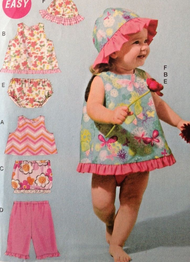 UC McCall M6539 Sewing Pattern Toddler Infant Girl Baby Sun Hat ...