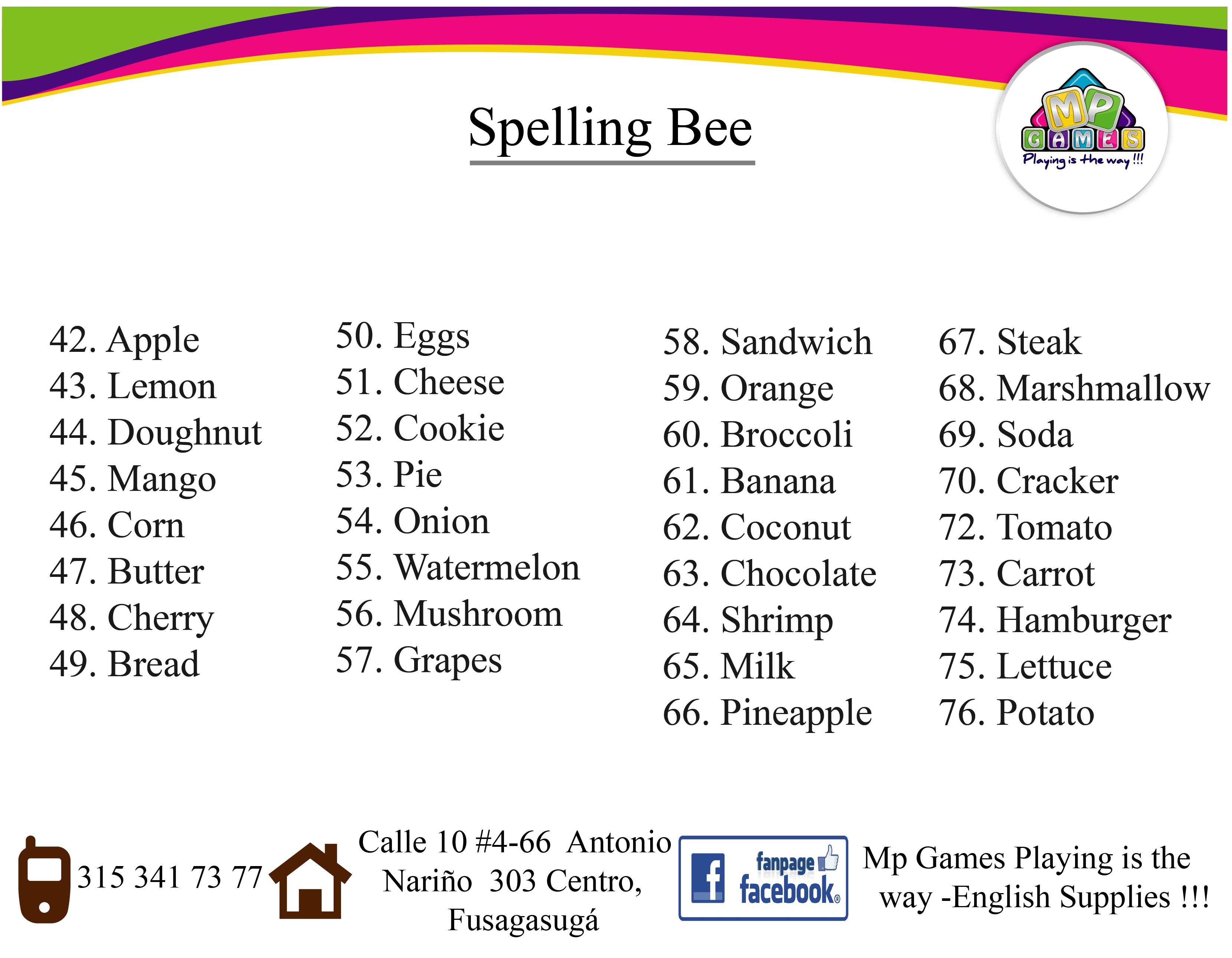 Pin de English Institute English Supplies en Spelling Bee Contest ...