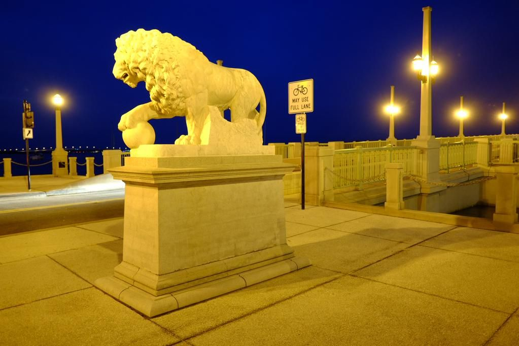 Day 17 of 'A Photograph Every Day For The Rest Of My Life' Wednesday 12th August 2015 'Medici Lions Guarding St Augustine Bridge' One of the marble lions at the entrance to 'St Augustine bridge of lions'. St Augustine, Florida. America's oldest city founded in 1565 by the Spanish.To ring out more go to: www.gillcopeland.com