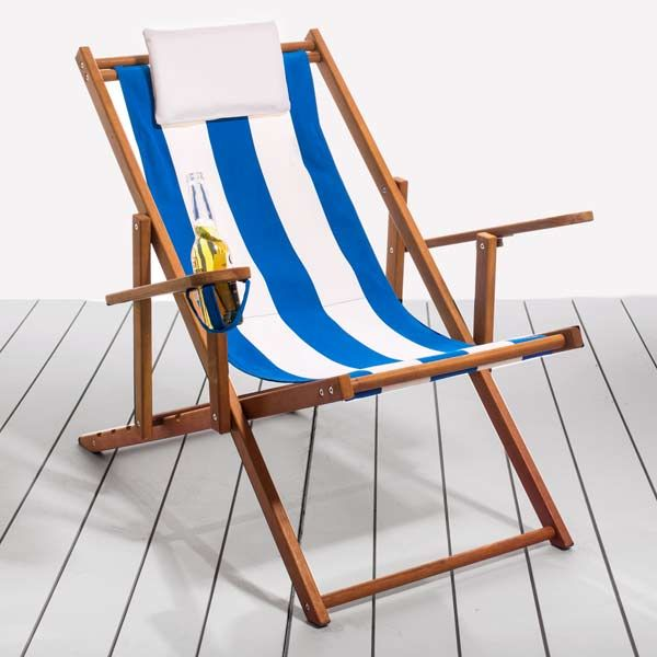 Cape Cod Beach Chair With Yellow Balau Wood Frame And Cotton Canvas 160 Folding Deck Chairs Ping Guide