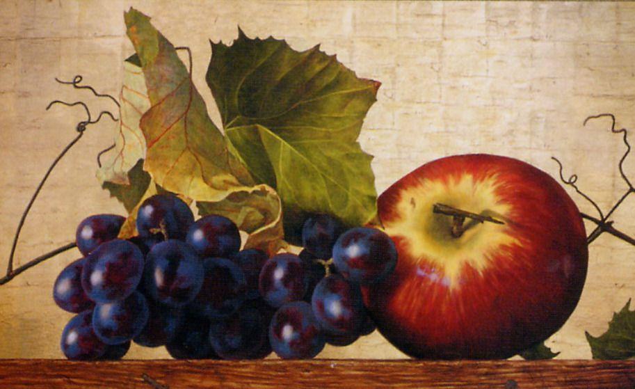 Barra decorativa bodegones ( de uva y manzana )-Artesanía en Stock ...