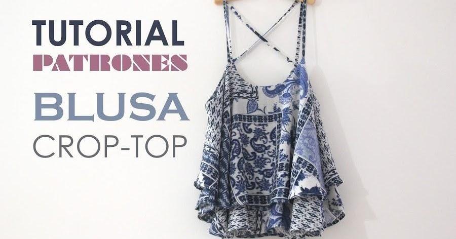 Tutorial y patrones de costura: Blusa tipo crop top | Almohadas ...