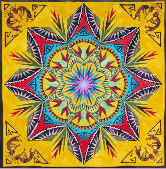 Desert Daze: Prize Winning Quilt By Debra Crine (With