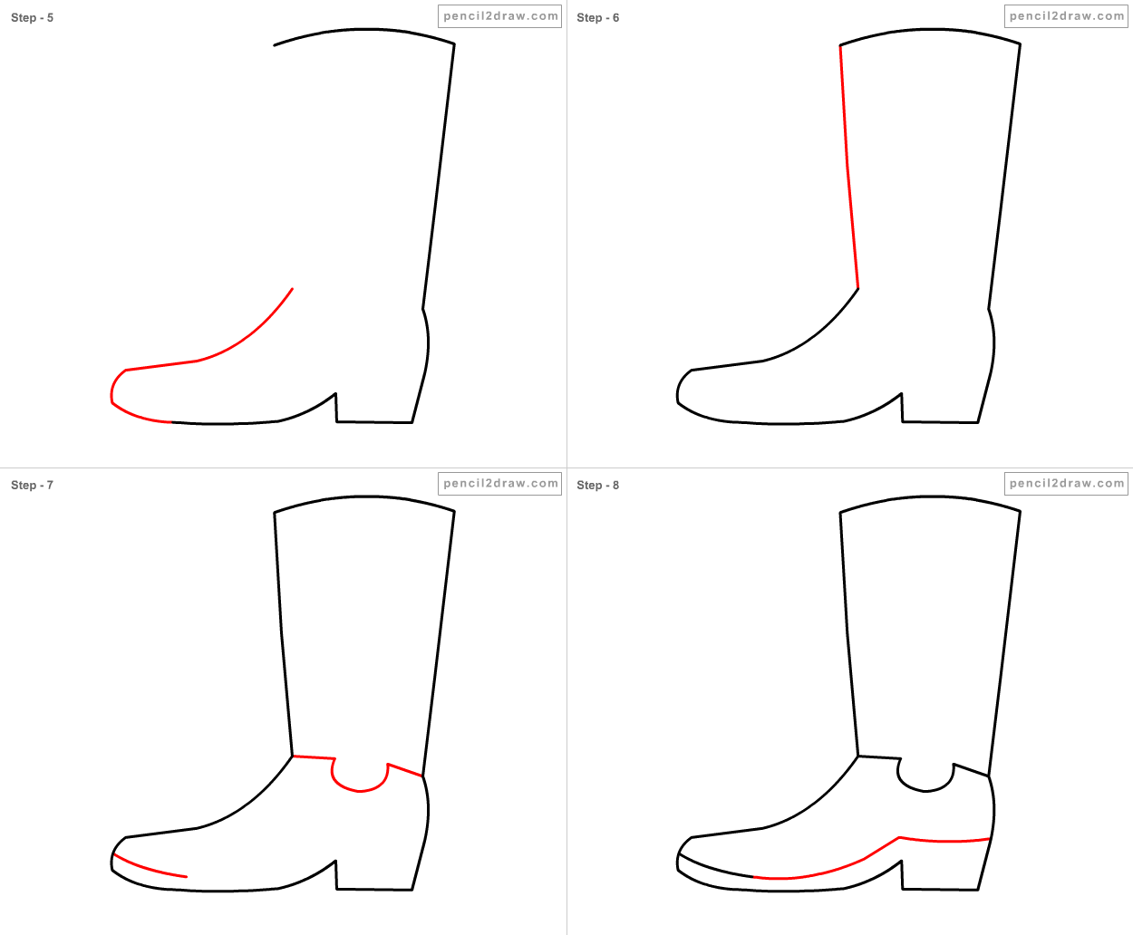 How to draw boots 13
