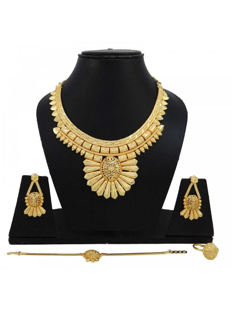 Bridal & Wedding Party Jewelry 18k Goldplated Indian Ethnic Bollywood Indian 4pc Necklace Set Party Jewelry Jewelry & Watches