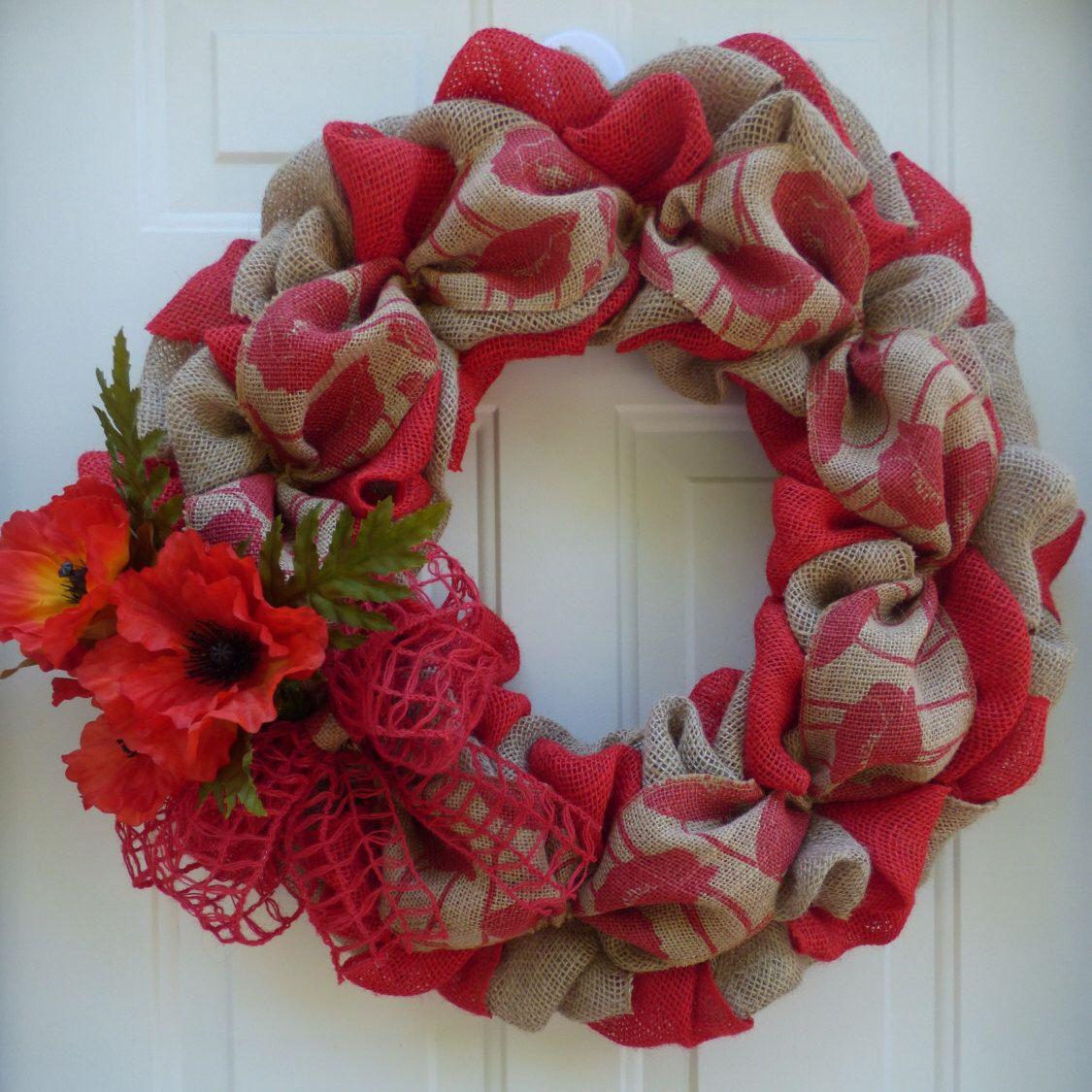 Photo of Wreaths for Front Door/Summer Wreaths for Front Door/Country Wreath/Door Wreath/Burlap Wreaths/Summer Burlap Wreath/Wreath For Summer