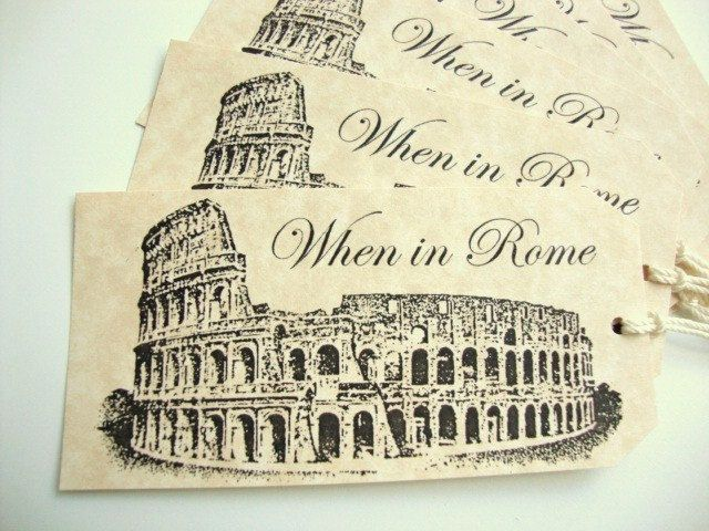 When in Rome gifts tags for any gift packaging or wedding / party favors!