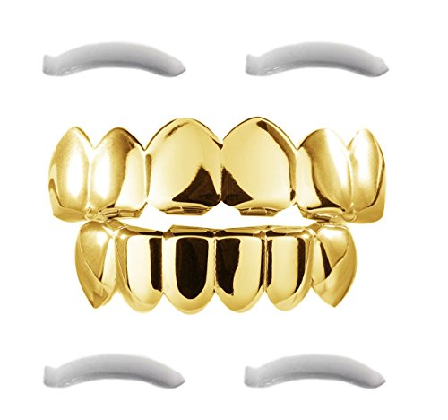 24k Plated Gold Grillz For Mouth Top Bottom Hip Hop Teeth Grills For Teeth Mouth Gold Grillz Grills Teeth Grillz
