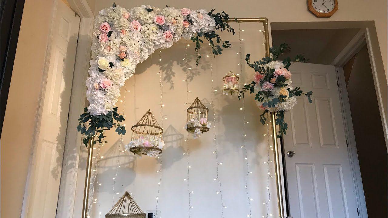 DIY Floral Swag DIY Floral Arch DIYWedding Decor