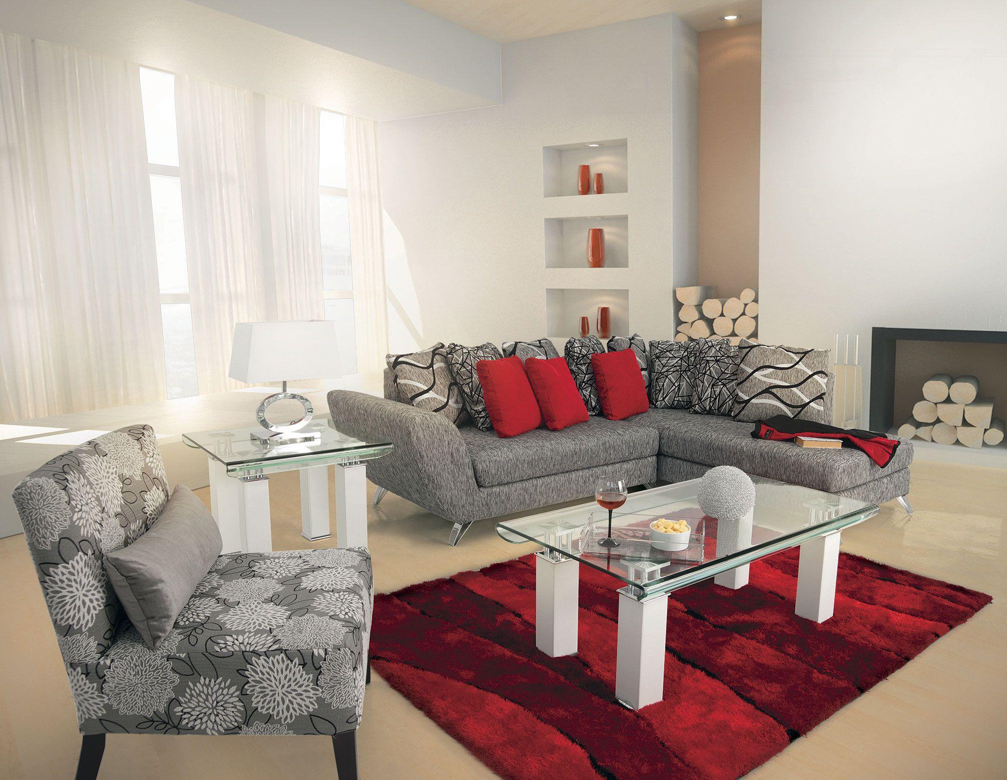 Sala esquina greco malaga de placencia muebles salas for Muebles de living