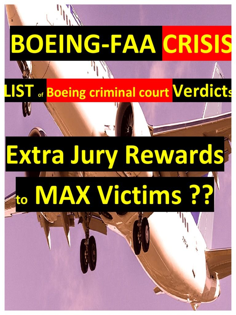 I'm reading FAABOEING Crisis. List of Criminal Boeing