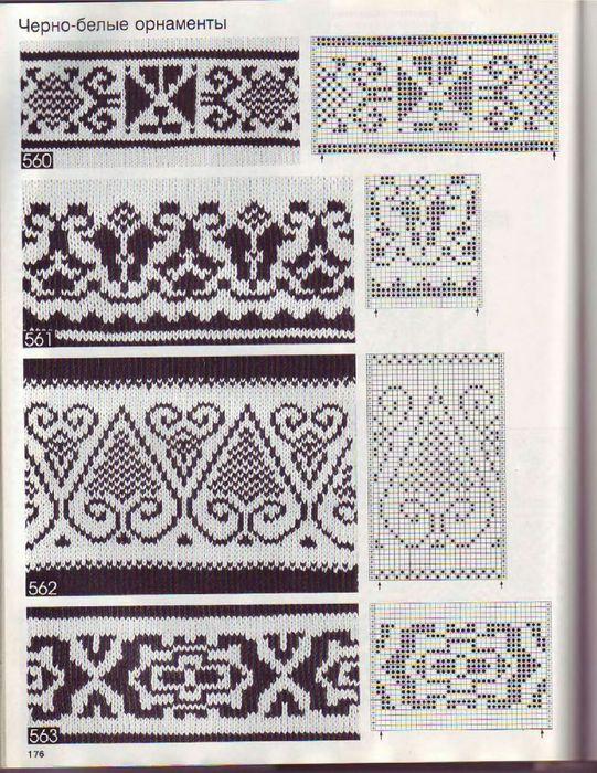 Lutik вязание крючком и спицами жаккардовые узорынорвежские узоры