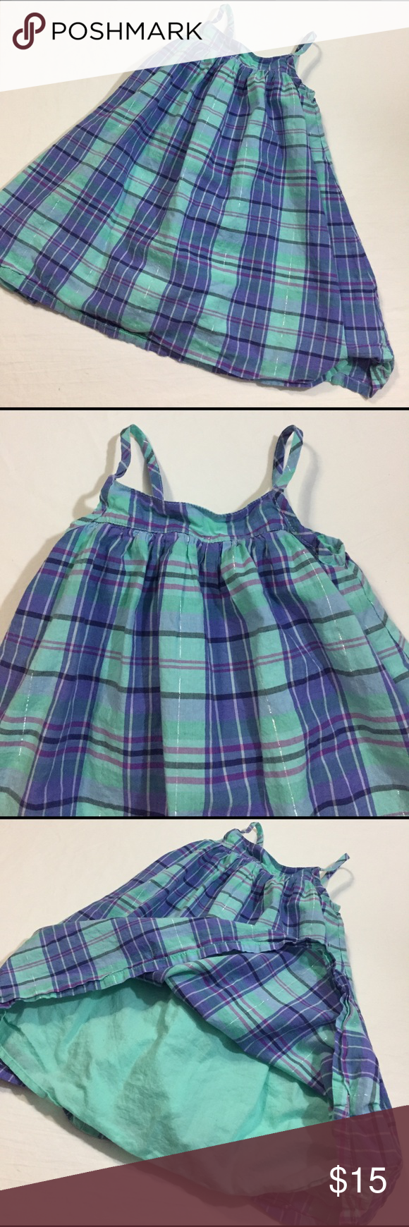 BabyGap plaid sundress BabyGap plaid sundress great preloved condition GAP Dresses