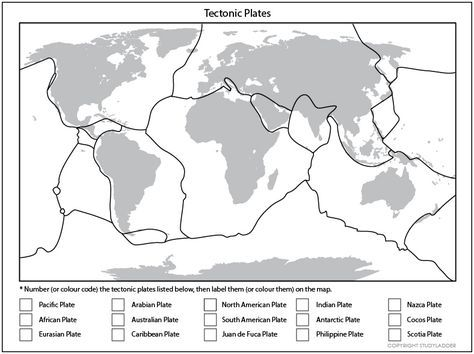 Tectonic Plates Map Click To Download Earth Pinterest
