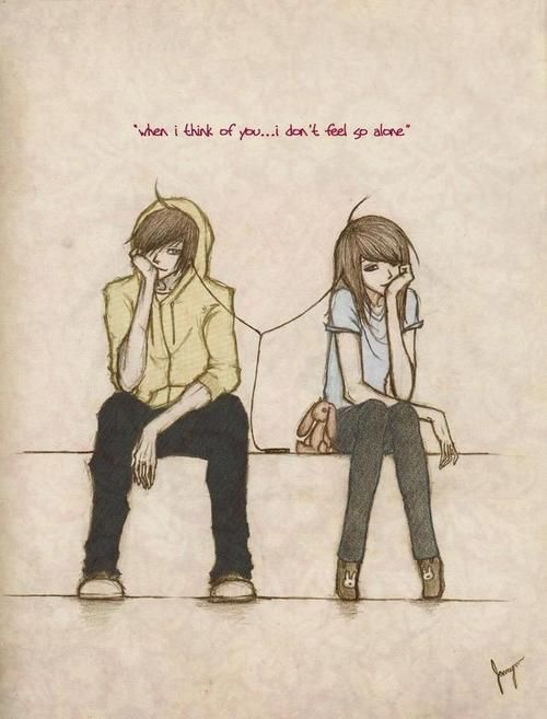 Boy Cute Girl Cartoon Drawing Couple Quote Simon Xo