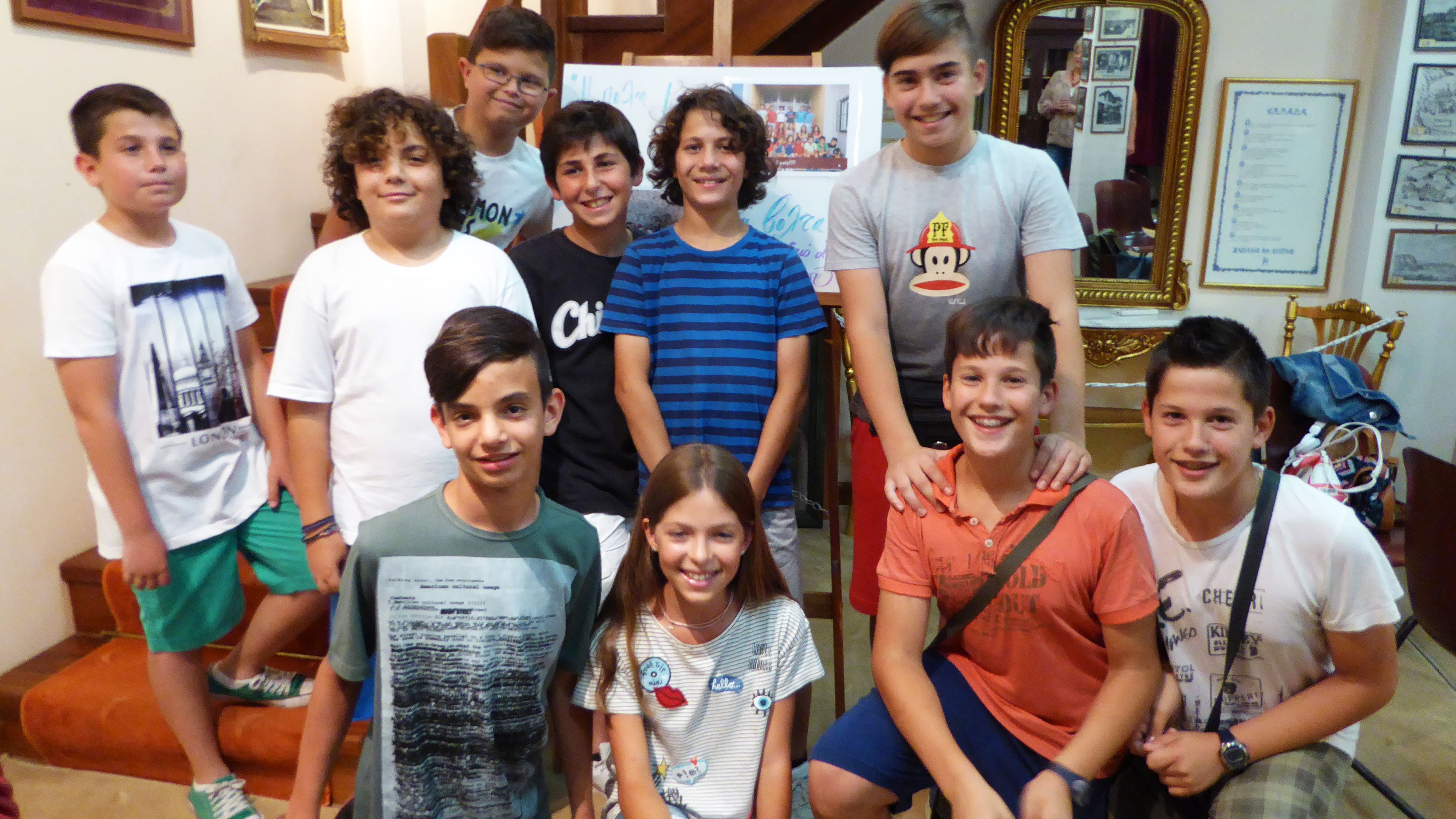 A group of children invited us to their art display in Nauplion, Greece.  The children had taken photos of interest in Nauplion for the event.