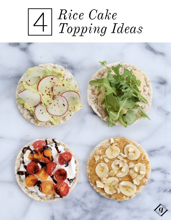 4 Rice Cake Topping Ideas Rice Cakes Toppings Rice Cakes