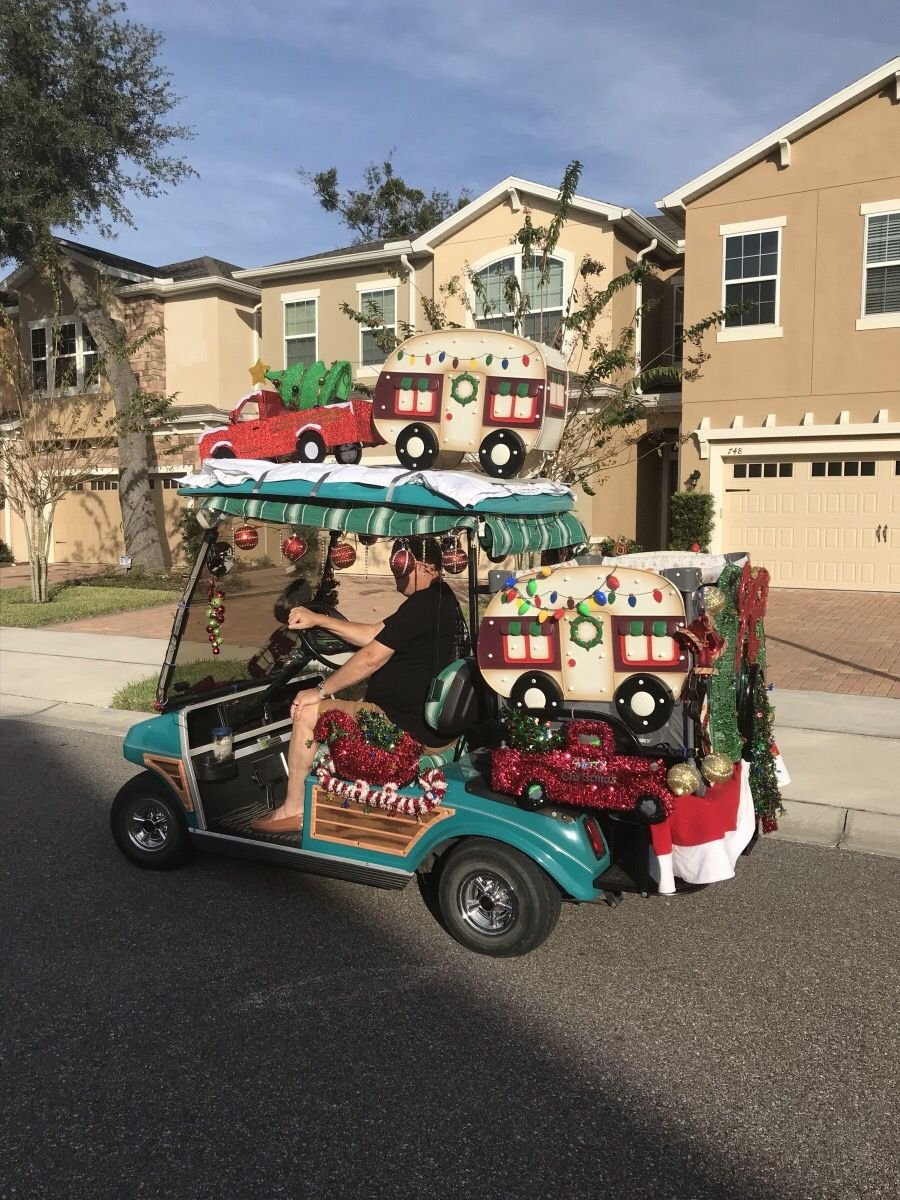 Christmas Golf Cart Golf Carts Christmas Golf Golf